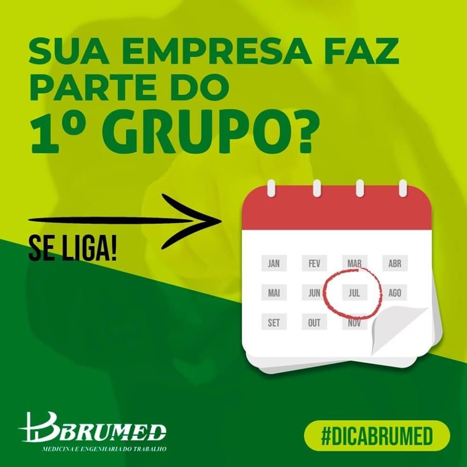 Sua empresa faz parte do primeiro grupo? | Brumed