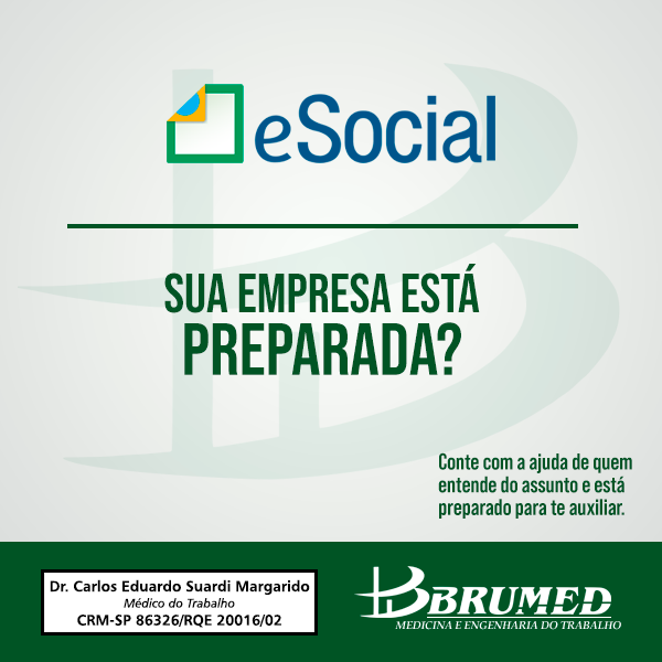 eSocial: sua empresa esta preparada | Brumed